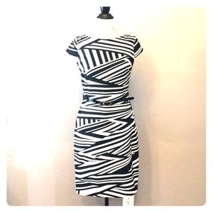 ALYX Limited Black & White Cap Sleeves Dress Sz 6
